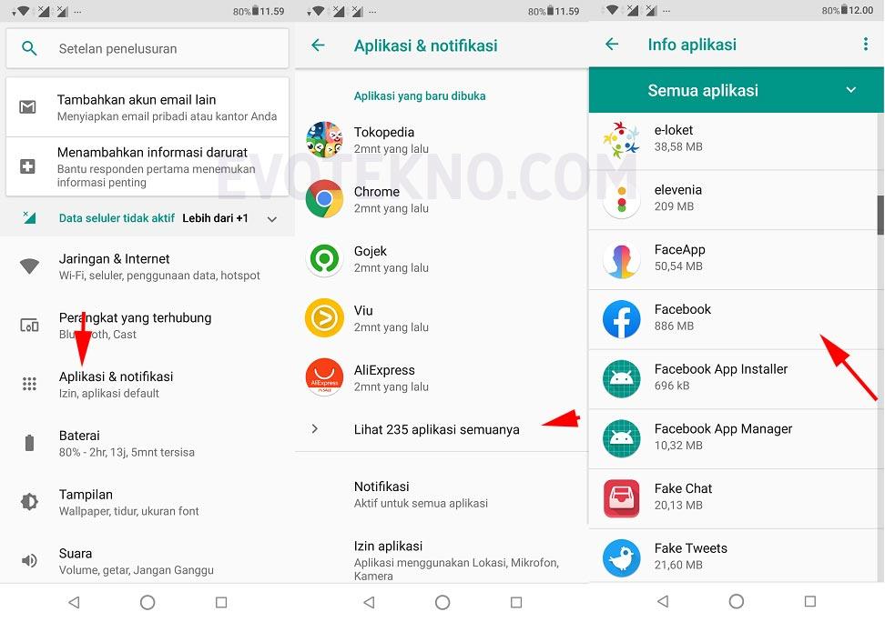 Setelan - Aplikasi - Android
