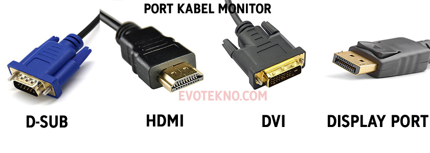 Perbedaan Port Kabel Monitor
