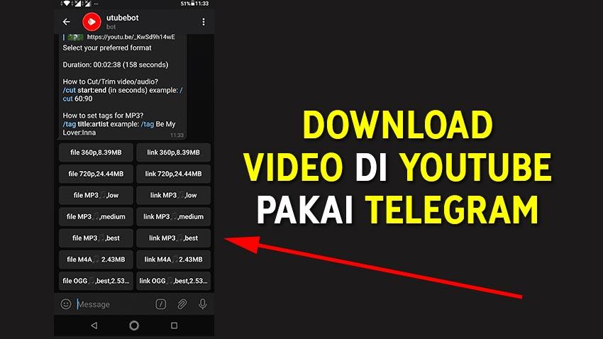 Cara Download Video YouTube Pakai Telegram