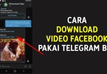 Cara Download Video Facebook Pakai Telegram Bot