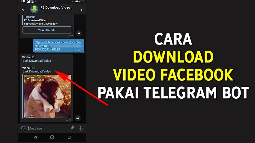 Cara Download Video Facebook Pakai Telegram Bot
