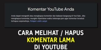 Cara Melihat dan Hapus Komentar Lama di YouTube