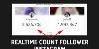 Realtime Count Follower Instagram