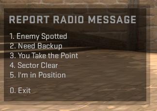 Report radio message - CSGO