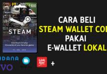 Cara Beli Steam Wallet Code Bayar Pakai E-Wallet