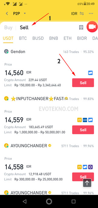 P2P Trading - Sell - Withdraw Binance