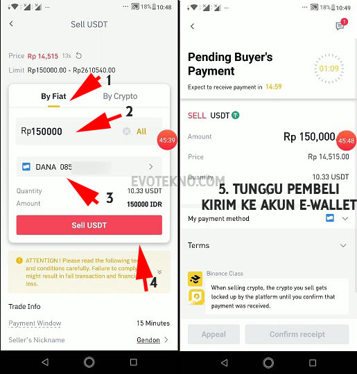 Wallet - P2P Trading - Sell USDT - Withdraw Binance