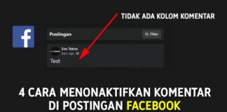 4 Cara Menonaktifkan Komentar di Facebook