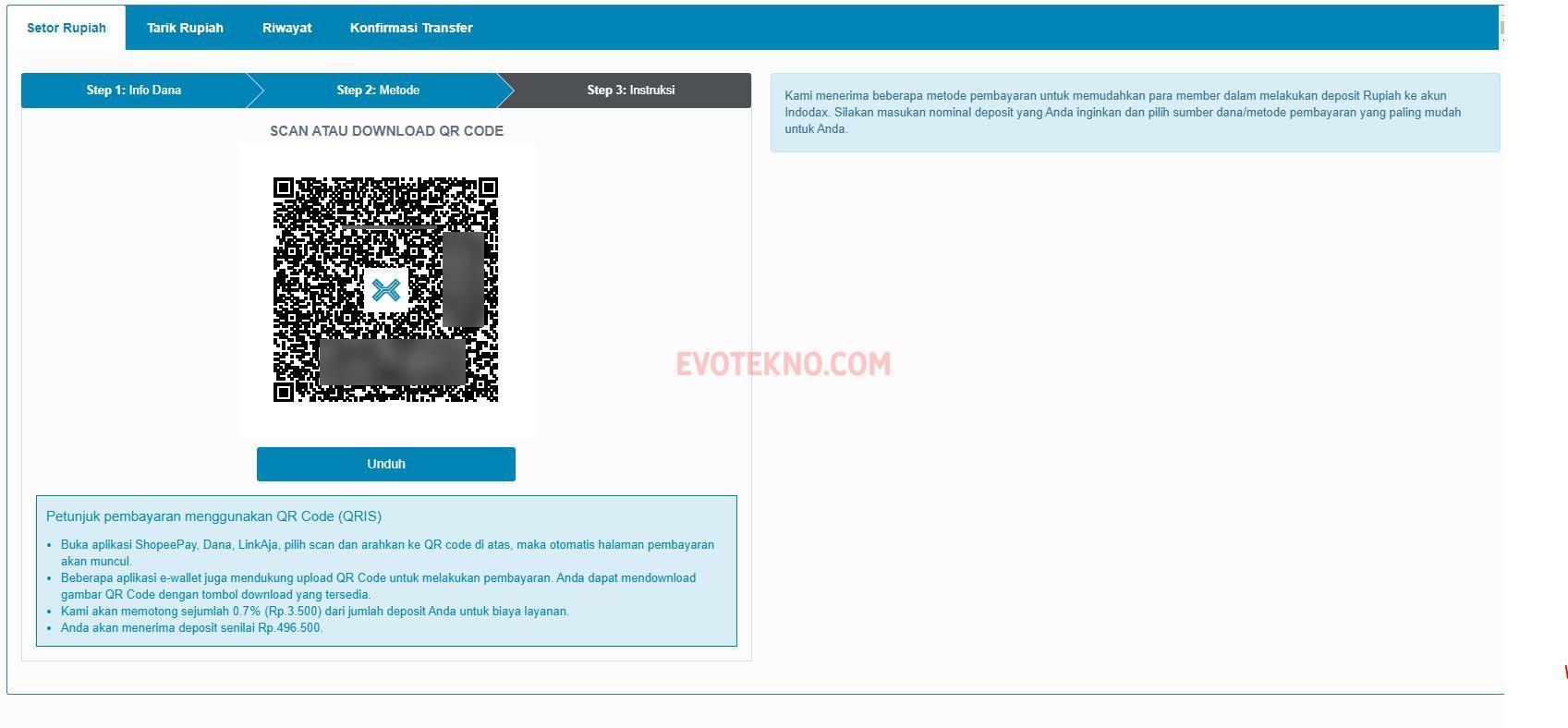 Barcode QRIS - Indodax