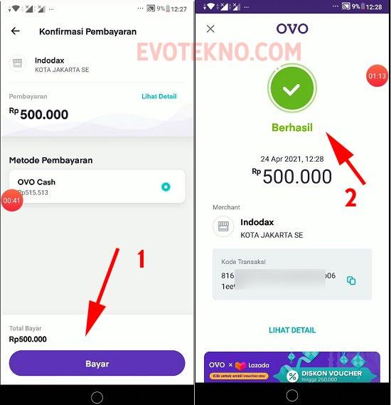 Berhasil Deposit Indodax - OVO