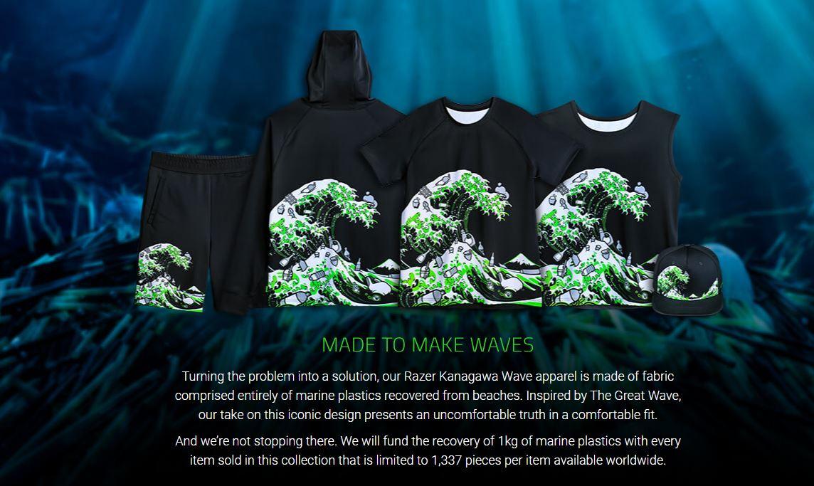 Pakaian Razer Kanagawa Wave
