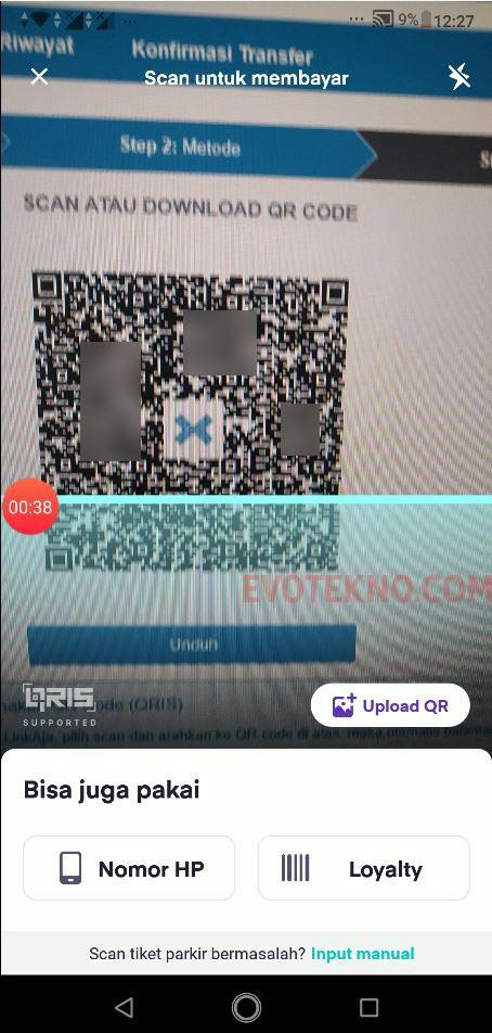 Scan Barcode QRIS - OVO ke Indodax