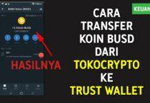 Cara Transfer Koin BUSD dari Tokocrypto ke Trust Wallet