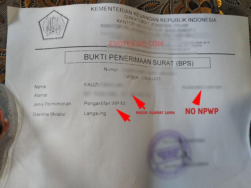 BPS - Pengaktifkan WP NE - NPWP