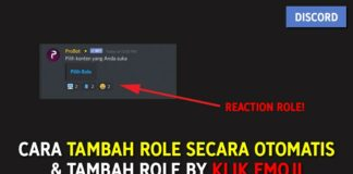 Cara Tambah Role Secara Otomatis dan Tambah Role by Klik Emoji di Discord (Auto & Reaction Role)