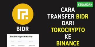 Cara Transfer BIDR dari Tokocrypto ke Binance