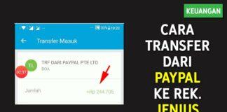 Cara Transfer Saldo dari Paypal ke Rekening Jenius