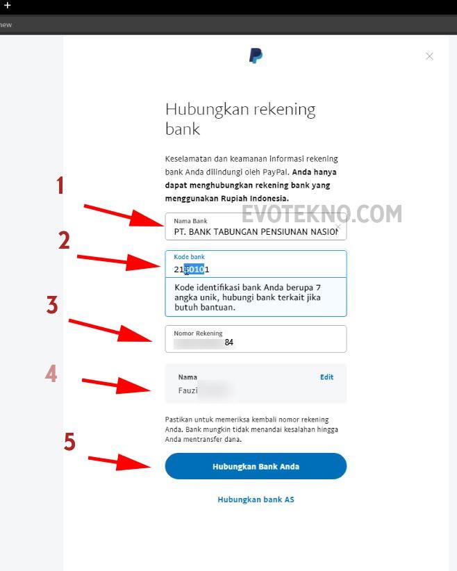 Hubungkan Rekening Jenius ke Paypal