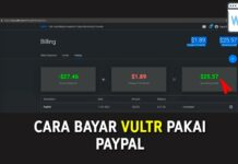 Cara Bayar Vultr Pakai PayPal
