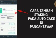 Cara Tambah Muatan Staking Auto Cake di PancakeSwap