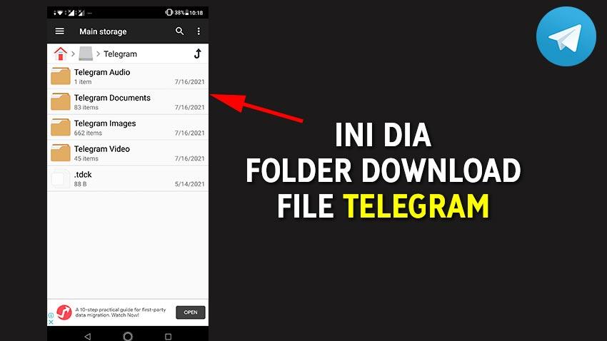 Ini dia folder download telegram