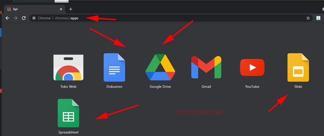 Aplikasi Google (Document - Drive - Slide - Sheets)