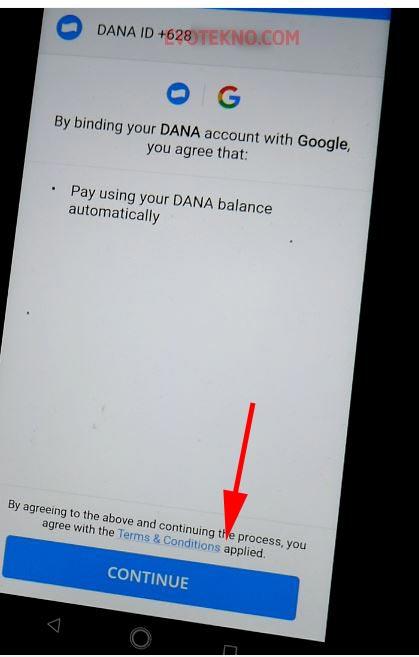 Menghubungkan pembayaran DANA dan Google Payment