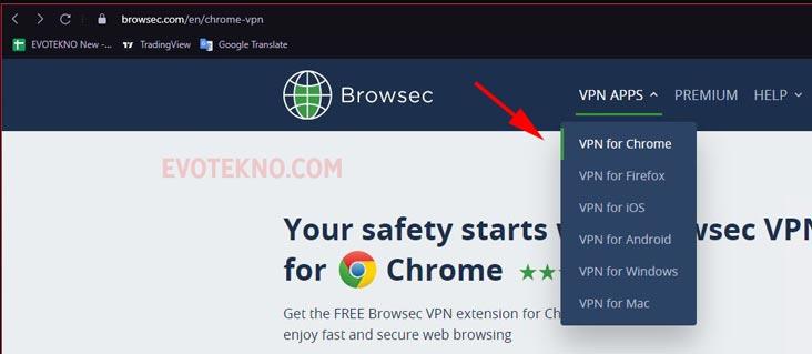 Browsec Install Ekstensi