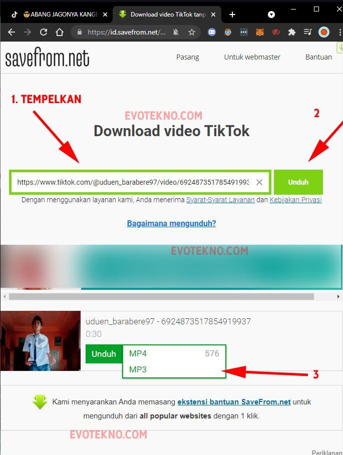 Cara Download Lagu Jadi MP3 Tiktok