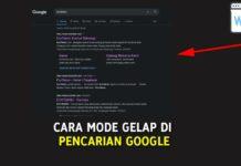 Cara Mode Gelap di Pencarian Google