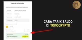 Cara Tarik Saldo (Withdraw) di Tokocrypto