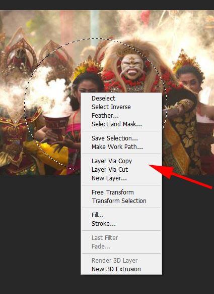 Klik Kanan - Layer Via Copy - Adobe Photoshop