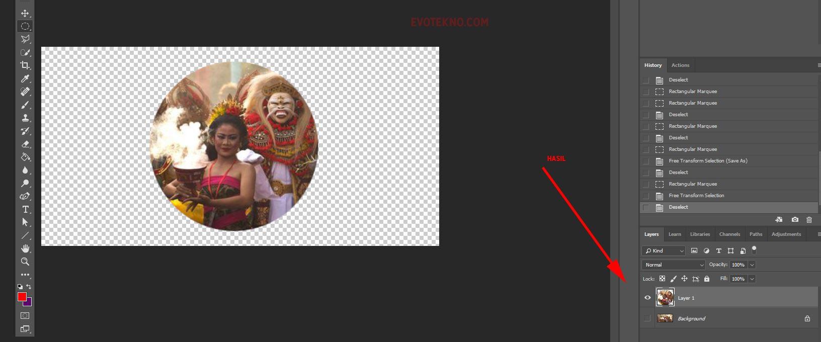 Layer - Layer Via Copy - Adobe Photoshop