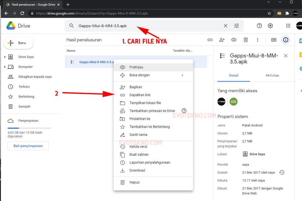 Cari File Download - Google Drive - Dapatkan Link