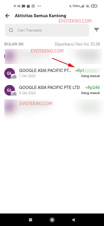 Google AdSense berhasil membayar ke rekening baru dengan nama yang berbeda